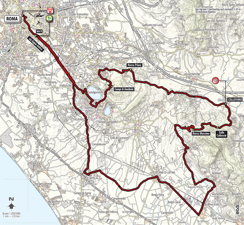 Roma Maxima 2014 - parcours