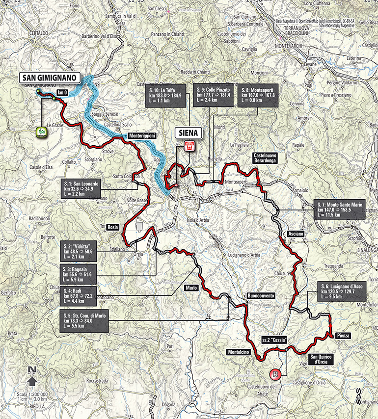 Strade Bianche 2014 - parcours