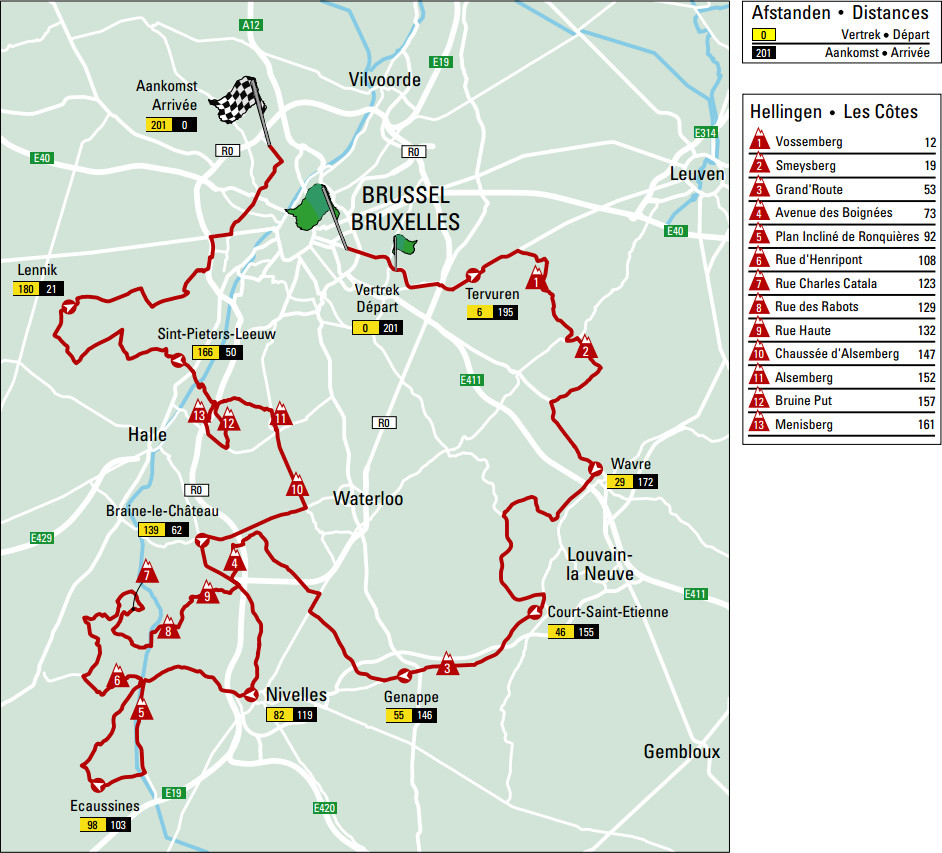 Brussels Cycling Classic 2015 - parcours