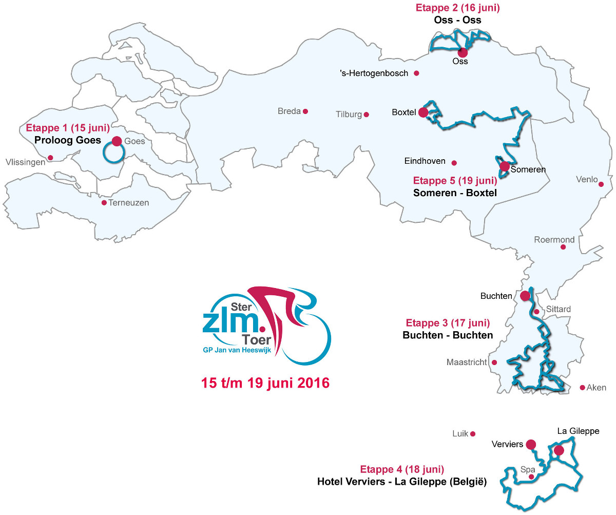 Ster ZLM Toer 2016 - parcours
